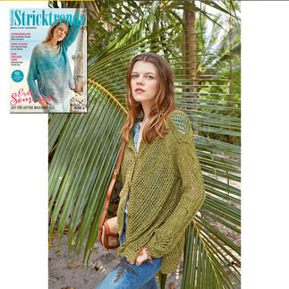 Jacke in A-Form aus Stricktrends 2/20