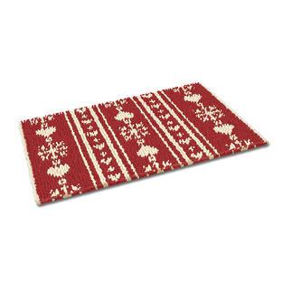 Fußmatte - Christkindl, rot Weihnachtliche Fußmatte.
