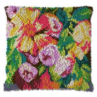 Knüpfkissen - Blumengruß, B-Ware Knüpfkissen - Blumengruß