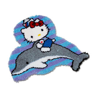 Formteppich - Hello Kitty mit Delfin