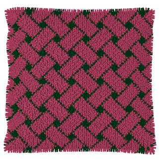 Knüpfkissen - Pink-Thyme, in 2 verschiedenen Designs Kuschelweiche Kissen mit Variationsmöglichkeiten