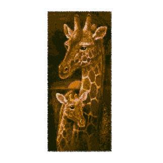 Wandbehang - Giraffen, 40 x 90 cm Wandbehänge aus Reiner Schurwolle.