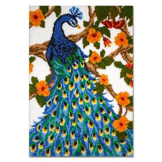 Wandbehang - Blauer Pfau