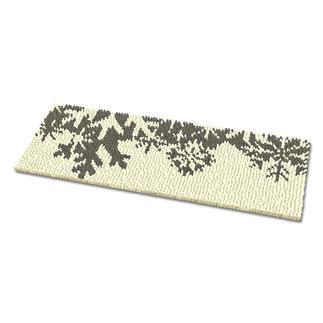 Fußmatte - Schneeflocken, silber