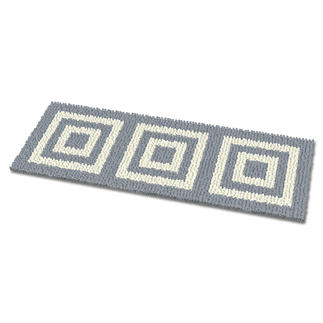 Fußmatte - Quadro, silber