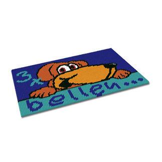 Kreuzstich-Fußmatte - 3 x bellen Gestickte Fußmatten - besonders strapazierfähig