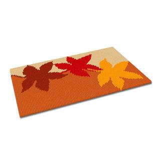 Kreuzstich-Fußmatte - Herbst Gestickte Fußmatten - besonders strapazierfähig