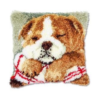 Knüpfkissen - Schlafender Hund 2 Knüpfkissen - schnell zu knüpfen, ideal für Anfänger.