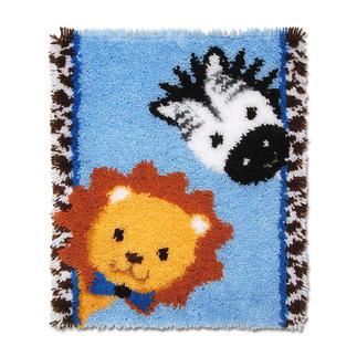 Wandbehang - Löwe und Zebra