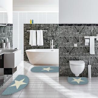 Badserie - White Star Badteppich oder Garnitur im angesagten Sternedesign