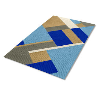 Longstichteppich - Choros, Blau