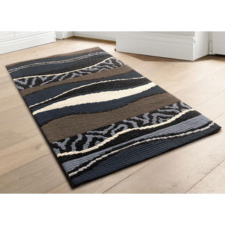 Longstickteppich - Batida, Grau Stickteppiche - die robusten Prachtstücke