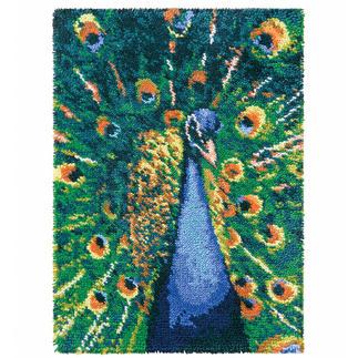 Wandbehang - Pfau Dekorative Wandbehänge aus Reiner Schurwolle.