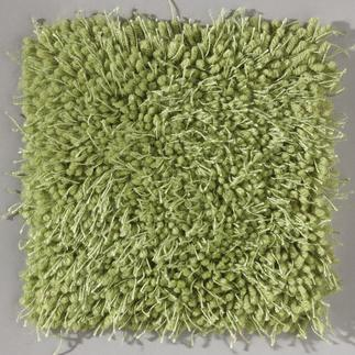 Kissen, Brücken oder Rundteppich in Materialmixtechnik Knüpfen in aktueller Materialmixtechnik.