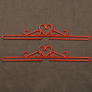 Metall-Beschläge, Rot, 2er-Set