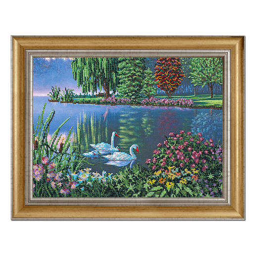 Bead-Art-Bild - Am See