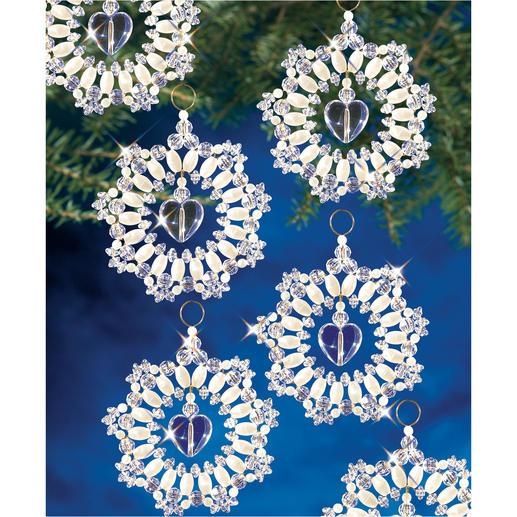 10 Kristall-Kränze im Set, Ø 7 cm