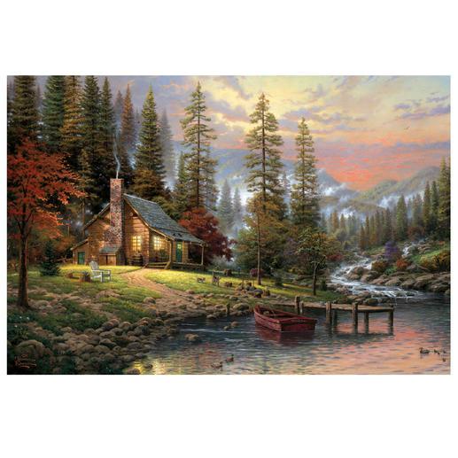 Puzzle - Haus in den Bergen