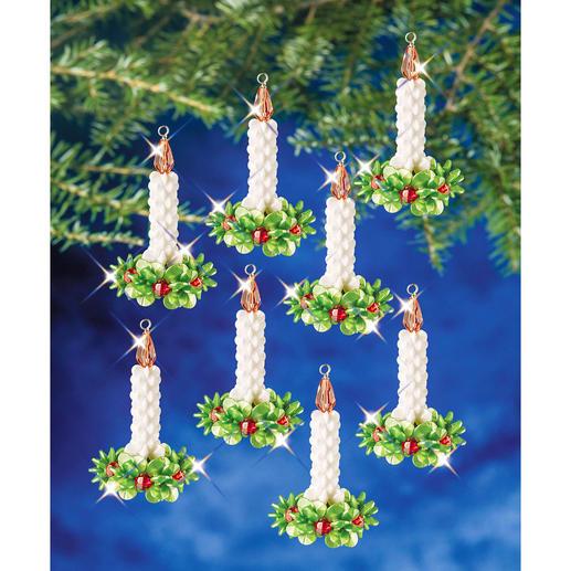12 Kerzenkränze im Set, 6,4 cm
