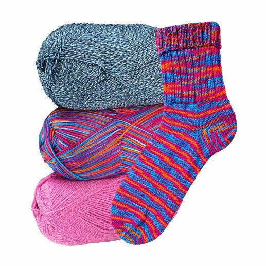 3 x 100 g Freizeit von Junghans-Wolle im Sparpaket, Lollypop 3 x 100 g Freizeit. Das bewährte Strumpfgarn von Junghans-Wolle, jetzt als Komplettpackung zum Sparpreis.