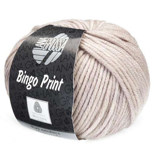 Bingo Print von Lana Grossa, Grau