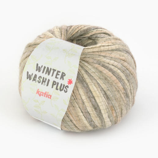 Winter Washi Plus von Katia, Beige/Beigerot