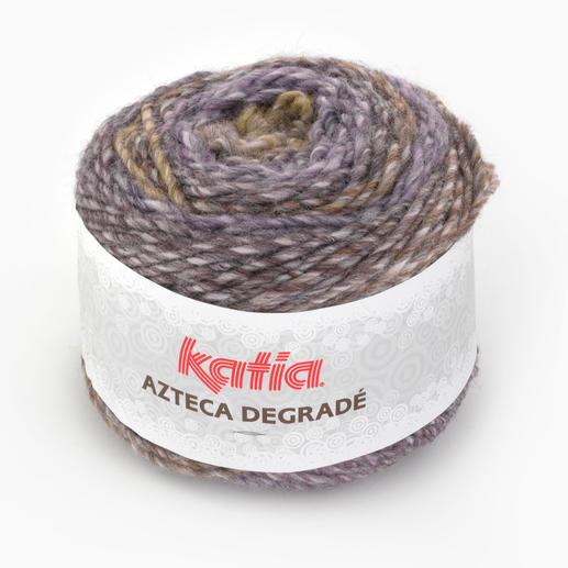 Azteca Degradé von Katia, Khaki/Lila
