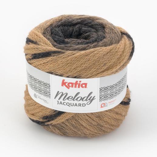 Melody Jaquard von Katia, Camel/Schwarz