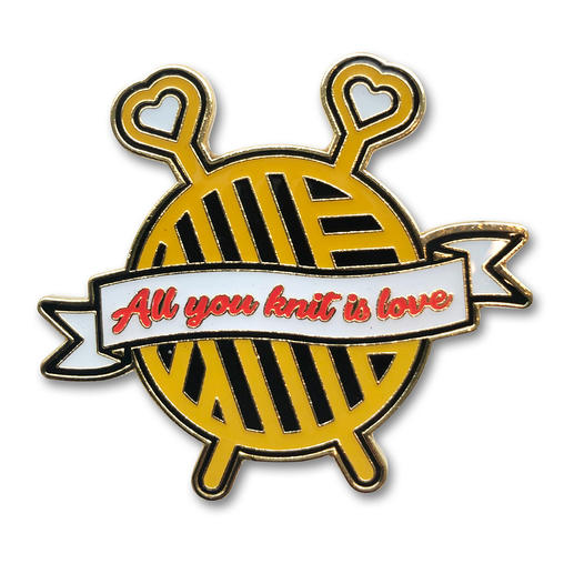 Strickimicki Pin - All you knit is love