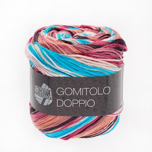255 Lachs/Pink/Antikviolett/Blau/Brombeer/Türkis - dünne Streifen