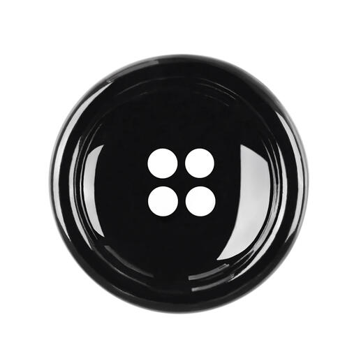 Knopf aus Kunststoff, Schwarz, Ø 28 mm, 1 Stück
