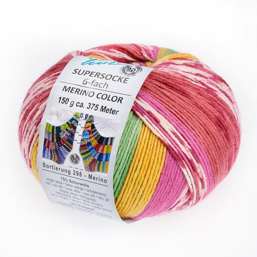 Supersocke 6-fach Merino Color, Sortierung 298 von ONline