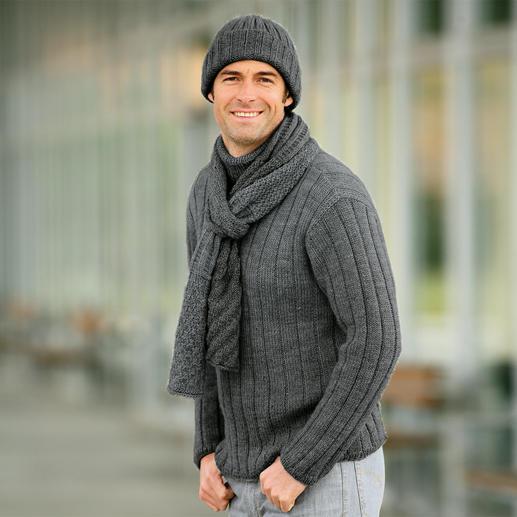 Anleitung 154/1, Herrenpullover, Mütze und Schal aus Peru von Junghans-Wolle