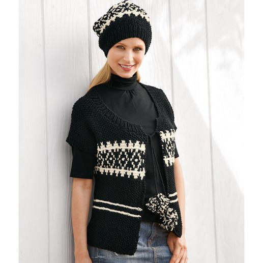 Anleitung 122/0, Damenweste mit Mütze aus Peru von Junghans-Wolle