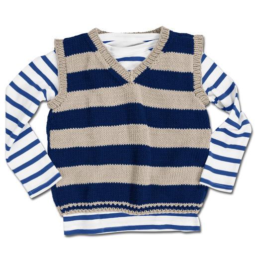Anleitung 333/3, Kinderpullunder aus Merino-Cotton von Junghans-Wolle
