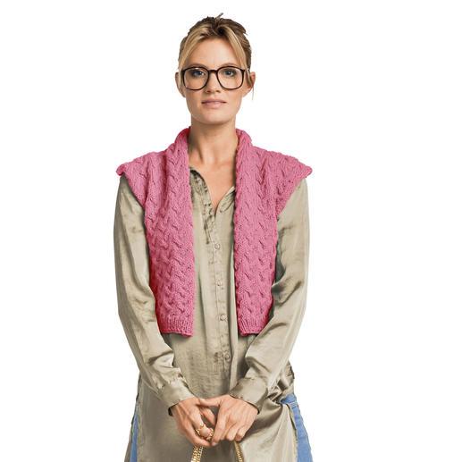 Anleitung 423/7, Damenweste aus Landwolle von Junghans-Wolle