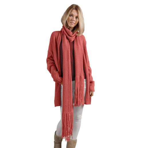 Anleitung 339/8, Jacke mit Schal ca. 25 x 220 cm (ohne Fransen) aus Creative Soft Wool Aran von Rico Design