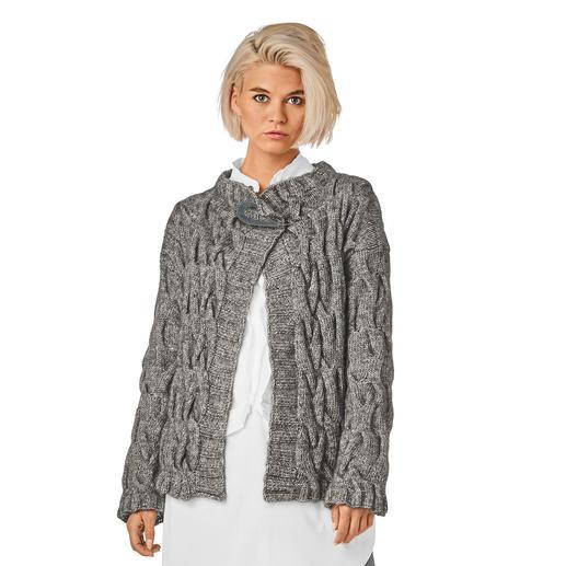 Anleitung 350/8, Jacke aus Alpaca-Cotton von Junghans-Wolle