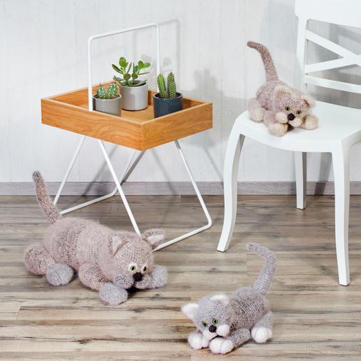 Anleitung 014/9, Große Katze & zwei Katzenbabys aus Pinta, Feelana und Seidana® von Junghans-Wolle