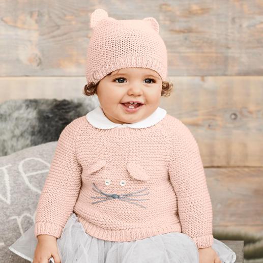 Anleitung 082/9, Babypullover mit Mütze aus Baby Classic dk von Rico Design