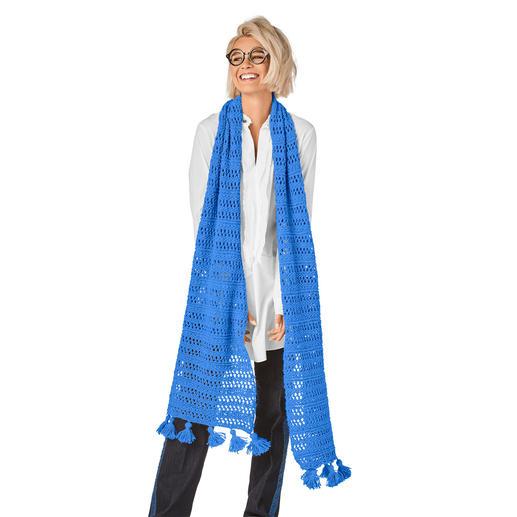 Anleitung 149/9, Schal mit Quasten aus Peru von Junghans-Wolle