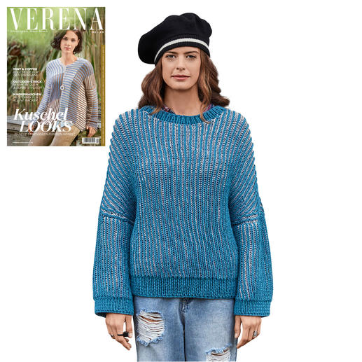 Anleitung 157/9, 2-fädig gestrickter Pullover aus Merino-Classic von Junghans-Wolle
