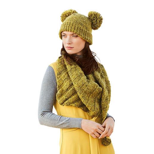 Anleitung 298/9, Mütze und Schal aus Fashion Alpaca Tweed Chunky von Rico Design