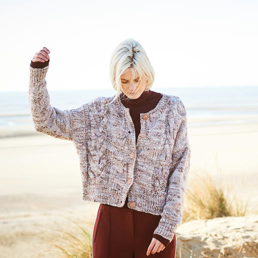 Anleitung 300/9, Jacke aus Fashion Alpaca Tweed Chunky von Rico Design