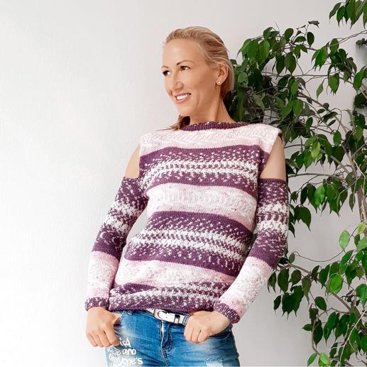 Anleitung 486/9, Pullover aus Fjord von Pro Lana