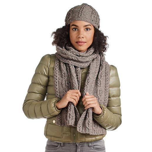 Anleitung 072/0, Schal und Mütze aus Cassandra von Junghans-Wolle