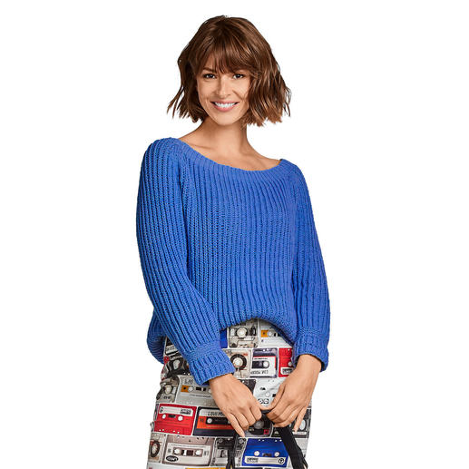 Anleitung 187/0, Damenpullover aus Merino-Cotton von Junghans-Wolle