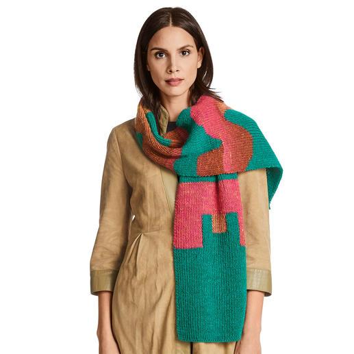 Anleitung 210/0, Schal aus Monello-175 Uni und Monello-175 Color von Junghans-Wolle
