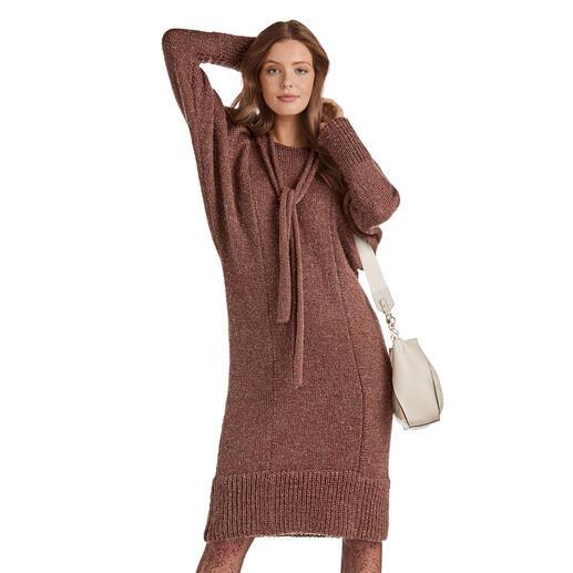 Anleitung 213/0, Kleid mit Puffärmeln aus Valderamo von Junghans-Wolle