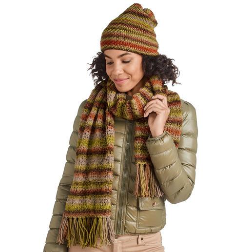 Anleitung 229/0, Schal und Mütze aus Cassandra Print von Junghans-Wolle